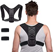 WORLD-BIO Posture Corrector,iUpcoot Upper Back Posture Corrector Comfortable Adjustable Posture Support for Cl