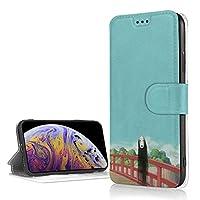 アイフォン XR ケース 千と千尋の神隠し 手帳型 高級PUレザーケース ストラップ付き 財布型 TPU カードポケット付きアイフォン XR ケース 耐衝撃 耐摩耗性