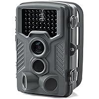 サンワダイレクト トレイルカメラ 防犯カメラ 乾電池式・12ヶ月待機可能 防水防塵IP54 不可視赤外線46灯 写真 動画 自動撮影 120°検知 400-CAM061