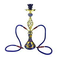 50cmシーシャ水ギセルカフェスタイル本物のエジプトのシーシャKtvナイトクラブポット,ブルー