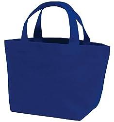 丸玉工業 トートバッグ 手提げ袋 厚手コットン Sサイズワイド 紺