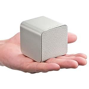 サンワダイレクト Bluetoothスピーカー 【手のひらサイズで持ち運びに便利】 NFC搭載 iPhone スマートフォン 対応 シルバー 400-SP052SV