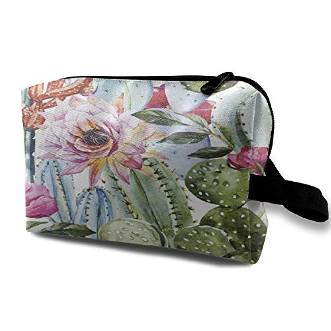 中名誉ある関係するFlowers Roses And Cactus 収納ポーチ 化粧ポーチ 大容量 軽量 耐久性 ハンドル付持ち運び便利。入れ 自宅?出張?旅行?アウトドア撮影などに対応。メンズ レディース トラベルグッズ