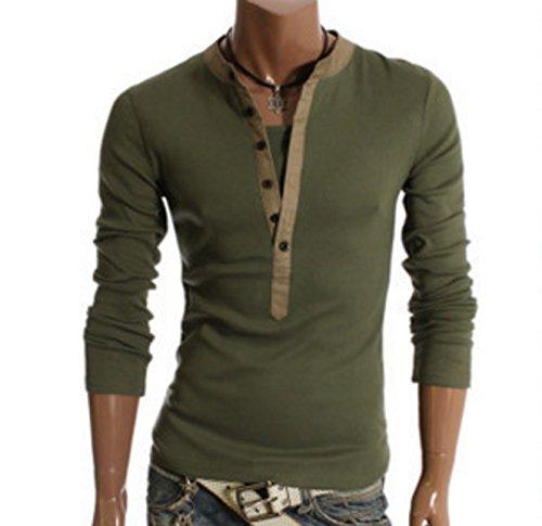 (ペプ) PEPU メンズ 重ね着 風 長袖 Tシャツ ボタンシャツ 男・・・