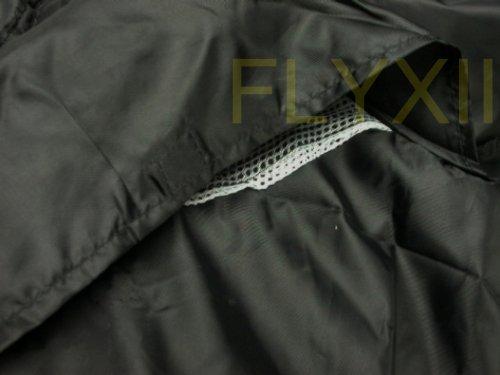 ブラック/レッドオートバイカバーfor Buell xb9s xb12s Lightning M