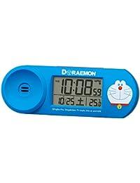 セイコー クロック 目覚まし時計 ドラえもん 電波 デジタル 大音量 青 CQ614L SEIKO