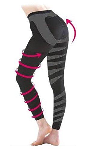 FAST (ファースト) リンパ マッサージ スパッツ 毎日履いて脚痩せ実感!!自宅でラクラク加圧トレーニング! (M-L:ウエスト64㎝~77㎝、ヒップ87㎝~100㎝)