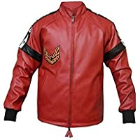 Men's Smokey & The Bandit Burt Reynolds Trans Am Bomber Red Leather Jacket