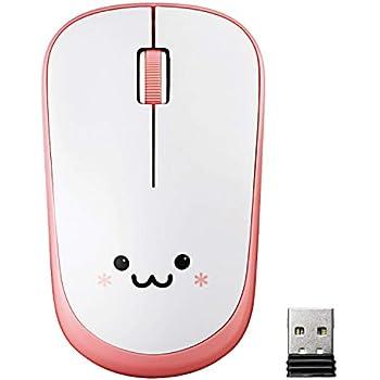 エレコム マウス ワイヤレス (レシーバー付属) Mサイズ 3ボタン 約2.5年電池交換不要 省電力 ピンク M-FIR08DRPN