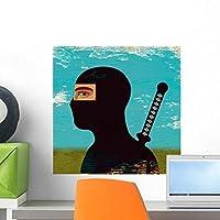 Portrait Ninja Wall Mural by Wallmonkeys Peel and Stick Graphic (18 in H x 18 in W) WM113213 [並行輸入品]