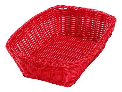 カルティエラタン 洗えるバスケット レクタングル M レッド...