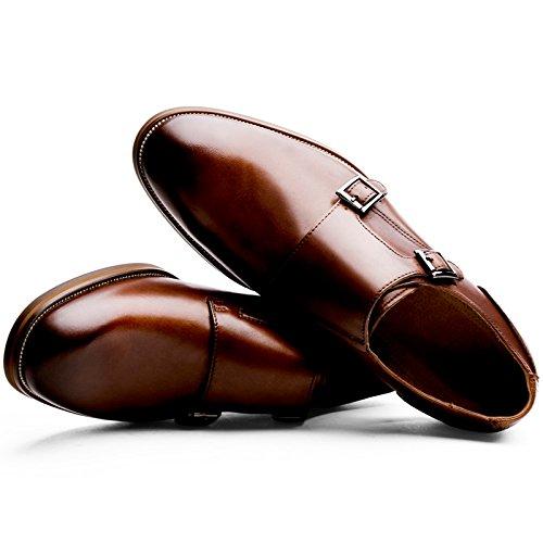 (フォクスセンス) Foxsense ビジネスシューズ 紳士靴 革靴 本革 メンズ モンクストラップ 8枚目のサムネイル