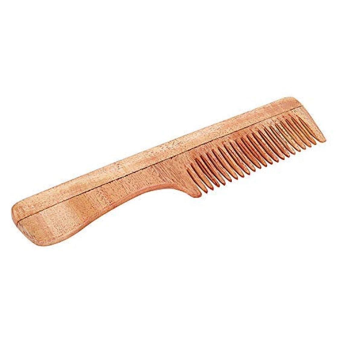 消える学部長側面SVATV Handcrafted Neem Wood Comb with Handle N-73 (7
