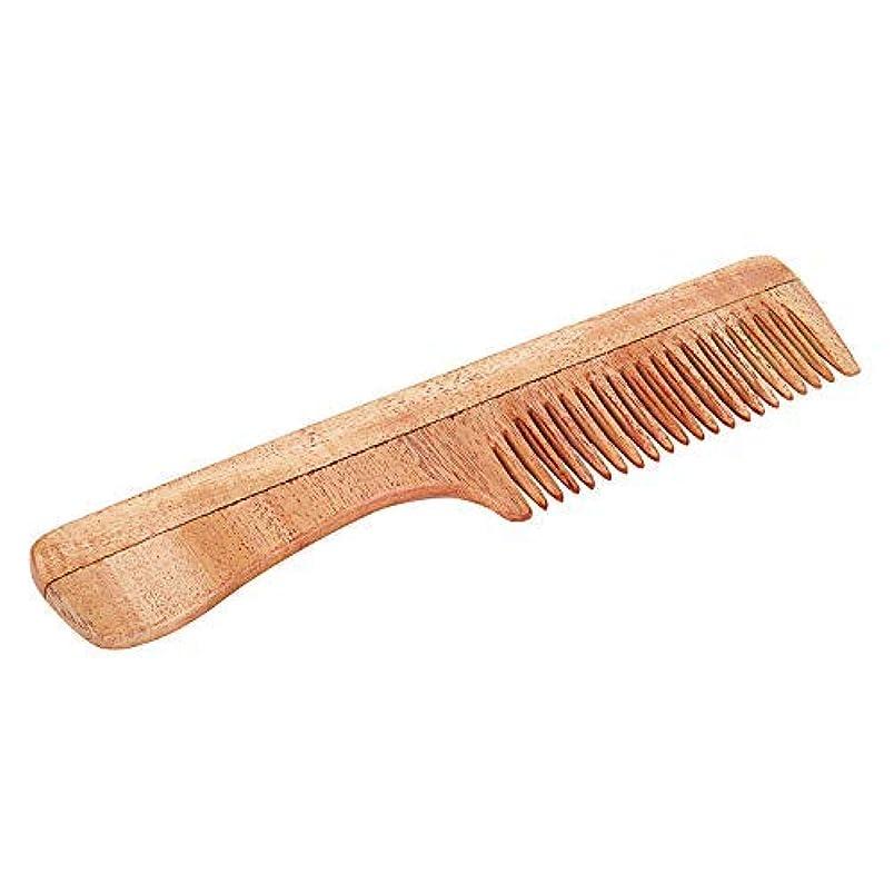叱るで金銭的SVATV Handcrafted Neem Wood Comb with Handle N-73 (7
