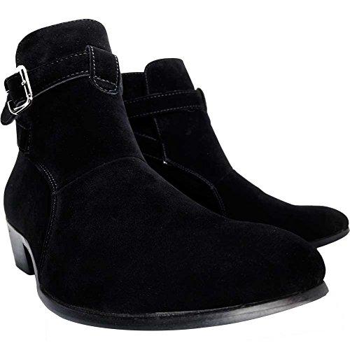 靴 メンズ 冬 メンズ 靴 シューズ ブーツ メンズシューズ メンズブーツ サイドゴアブーツ ショートブーツ カジュアルシューズ メンズ ショート ハイカット サイドジップ スウェード スエード 厚底 革 防水 防滑 防寒 ジッパー ビジネス カジュアル サイドゴア おしゃれ メンズ ブーツ ショート 黒 27.0cm