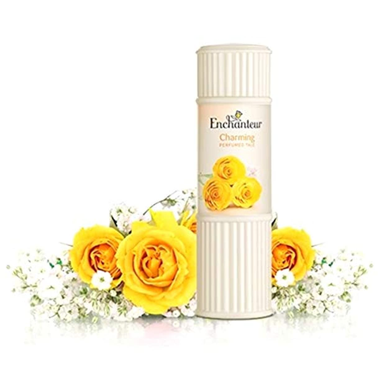 硬い美人積極的にEnchanteur Perfumed Talc アンシャンター パフュームタルク 100g オリジナルポーチ付き【並行輸入品】 (Charming)