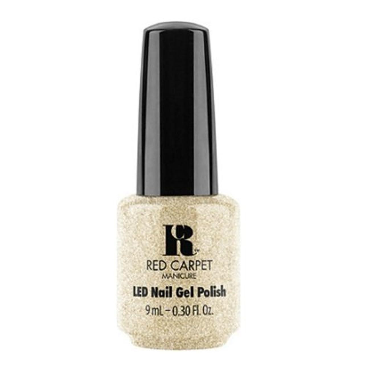 キャプション成人期世界に死んだRed Carpet Manicure - LED Nail Gel Polish - All the Sparkles - 0.3oz / 9ml