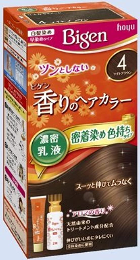 ウール下着エッセンスビゲン 香りのヘアカラー 乳液 4 ライトブラウン × 27個セット