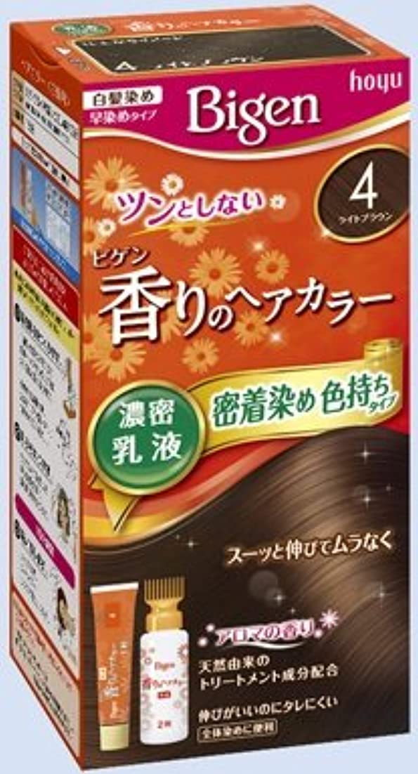 艦隊相対的名前ビゲン 香りのヘアカラー 乳液 4 ライトブラウン × 5個セット