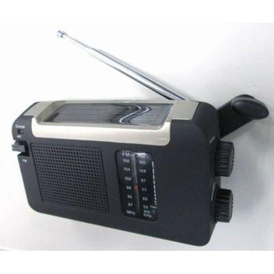 イヤホン で 聞く 事もできるので 電池 いらずで 緊急時 にも 安心 ポケットラジオ 手回し ソー...