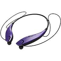 Mpow Jaws v4 . 1 Bluetoothヘッドフォンワイヤレスネックバンド式ヘッドセットステレオノイズキャンセリングイヤホンW/Mic パープル PAMPBH025AV-USAA1-PTX