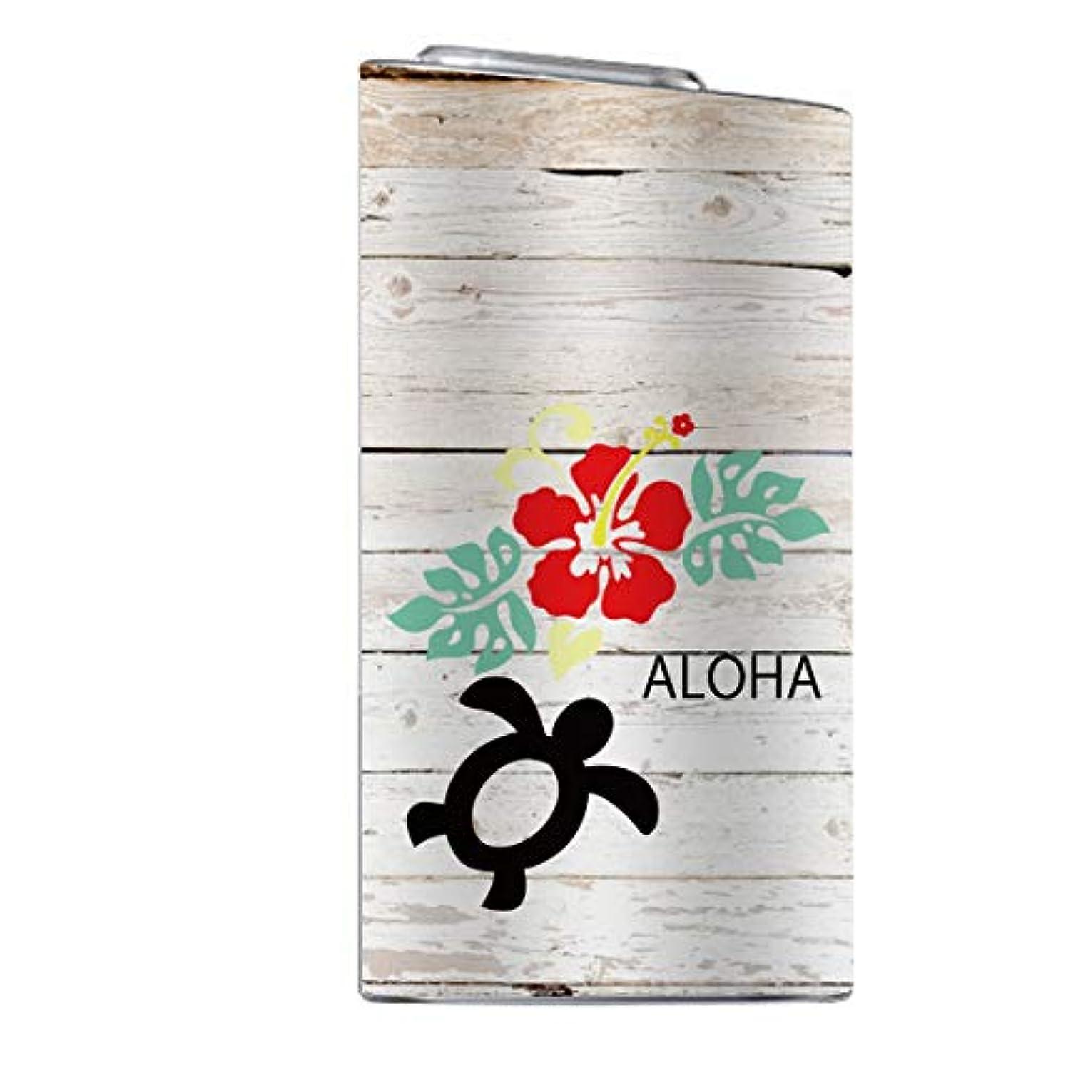届ける給料弱いglo スキンシール 【 glo専用 】 ハワイ ハワイアン 柄 ホヌ 海外 亀 ハイビスカス ヤシの木 花柄 ボタニカル glo グロー 全面対応