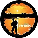 Bushranger 81Z92L Goin' Fishing Spare Wheel Cover, Black