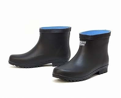 メンズ ショート長靴 たんたんブーツ 9962 ブラック 3L(27.5-28.0cm)