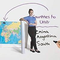 スマートな磁気ホワイトボード壁カバー - 磁気書き込み壁紙 - ホワイトグロス 53 sq ft