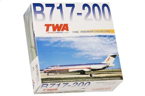 1:400 ドラゴンモデルズ 55386 ボーイング 717-200 ダイキャスト モデル Trans World 航空 N2427A【並行輸入品】