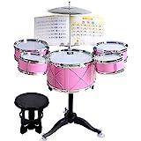 LINGLING-ドラム 子供用ビートドラム子供用音楽玩具楽器5ドラムゲーム玩具 (Color : ピンク)