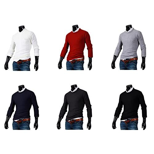 【 UN ANANAS 】 ざっくり ニット セーター メンズ おしゃれ トップス カジュアル ビジネス クール 秋 冬 サイズ M L XL 2XL 3XL 大きい サイズ (グレー, XL)