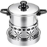 Fityle アルコールストーブ 鍋 しゃぶしゃぶ 調理器具 厚手 ふた付 ステンレス製