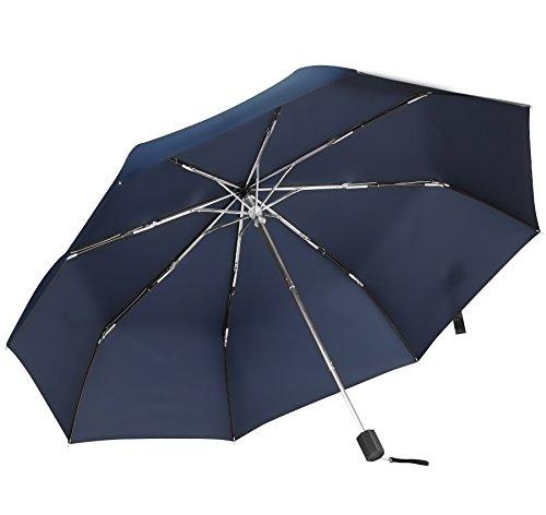 超軽量 折り畳み傘 TAIKUU 折りたたみ傘 軽い 240g 晴雨兼用吸水カバー付き (ブルー)