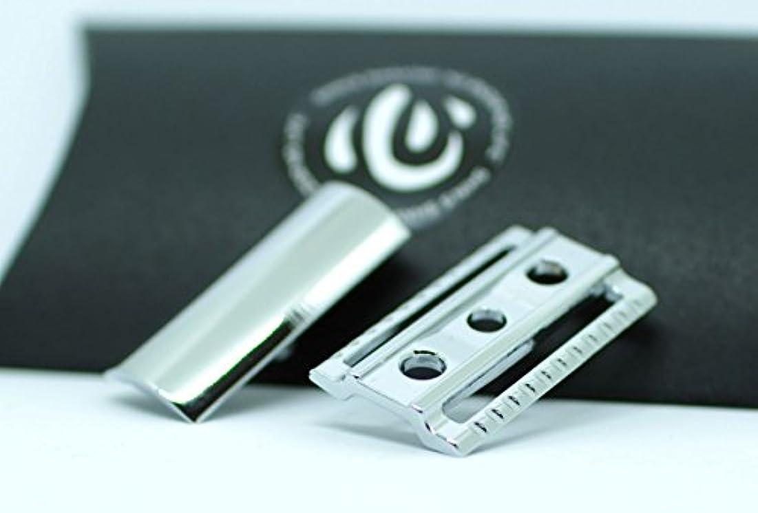 患者好きである区別【shin's shaving】 クロームメッキ仕上げ 高級両刃カミソリホルダー(加工精度アップ) ヘッドのみ 【スリムタイプ】 [並行輸入品]