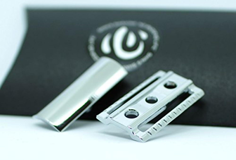 【shin's shaving】 クロームメッキ仕上げ 高級両刃カミソリホルダー(加工精度アップ) ヘッドのみ 【スリムタイプ】 [並行輸入品]