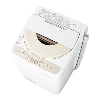 シャープ 4.5kg 全自動洗濯機 ベージュ系SHARP ES-GE45P-C