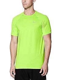 (ナイキ) Nike メンズ 水着?ビーチウェア ラッシュガード Nike Heather Short Sleeve Hydro Rash Guard [並行輸入品]