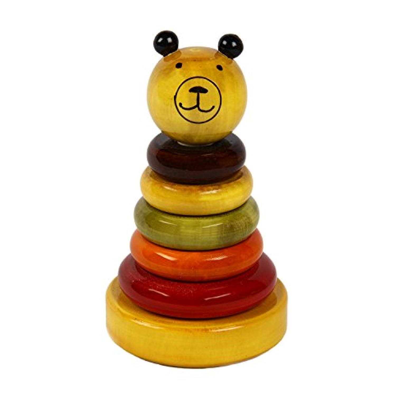 クリスマスギフトChannapatna |handmade|木製Sorting and Stacking Baby Toys : Cubby – Wooden Stacker for 12か月( + )ベビー