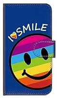 ガールズネオ docomo Xperia XZ2 Compact SO-05K 手帳型ケース カメラ開口有 (I love SMILE/レインボー) SONY SO-05K-PD-DBR-YSZ-02512