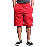 Victorious G-Style USA Men's Solid Fleece Cargo Shorts