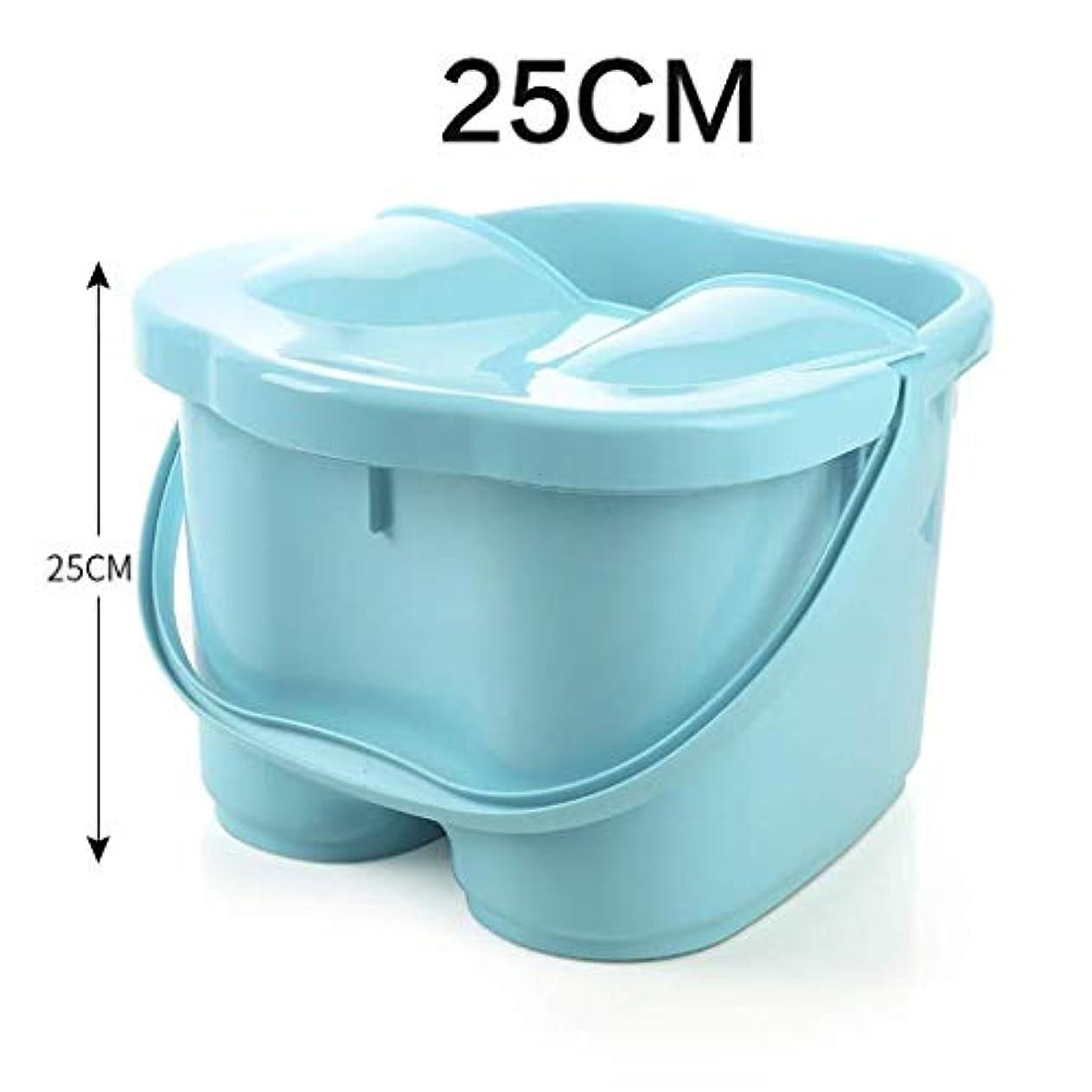 スーダンペンス高度フットバスバレル、スクエア発泡プラスチックボウル、フットバスフットバスバレルは、ハンドルポータブル、多機能 (Color : 青)