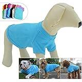 Lovelonglong Pet Clothing Dog Costumes Basic Blank T-Shirt Tee Shirts for Medium Large Dogs Lake-Blue XXL+