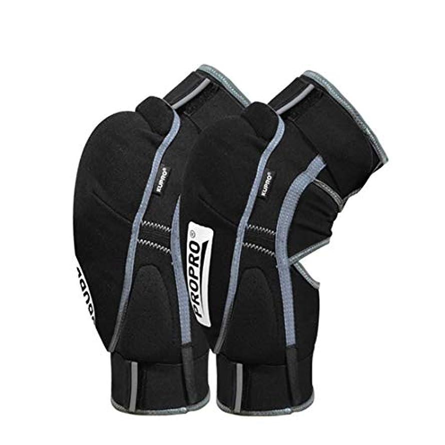 Electrost スポーツニーパッド ウォーム保護膝パッド サイクリングオートバイスキーアウトドアスポーツ保護装置 (色 : 黒, サイズ : S)