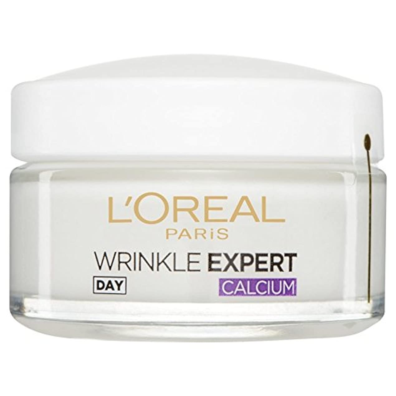戸棚パラナ川育成L'Or?al Paris Dermo Experties Wrinkle Expert 55+ Calcium Day Pot 50ml (Pack of 6) - ロレアルパリ?ダーモしわの専門家55+カルシウム日間...