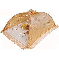 Dewel 洗える 食卓カバー 高級 刺繍レース 欧米風 折り畳み式 長方形 収納便利 埃よけ 虫よけ 大きいサイズ (小花柄)