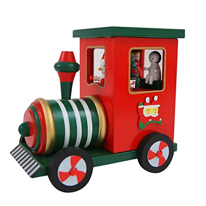 サンタクロース エルク クリスマスギフト オルゴール カート 木製 子供 オルゴール クリスマス デスクトップトイ