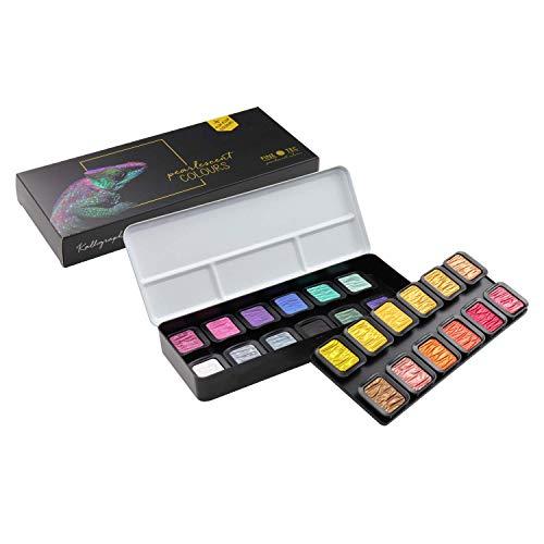 ホルベイン 水溶性固形絵具 ファインテック パール22色+Flip-Flop2色 F2400 610605