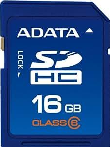 A-DATA SDHCカード 16GB SDHC Turboシリーズ Class 6 ASDH16GCL6-R
