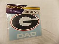 """Georgia Bulldogs ( G ) Dadデカール( 41/ 2"""" x4"""" )"""